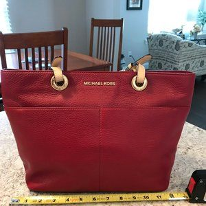 Michael Kors Bedford Tote-Red